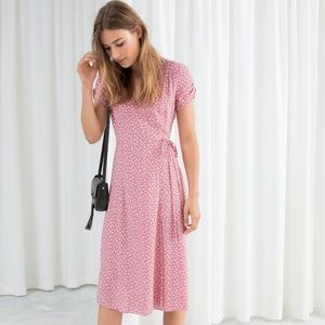 & Other Stories Micro Flower Wrap Dress
